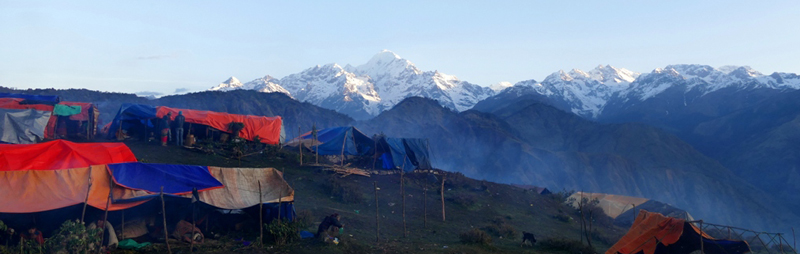 Laprak Village backdrop Mt. Bouddha Himal